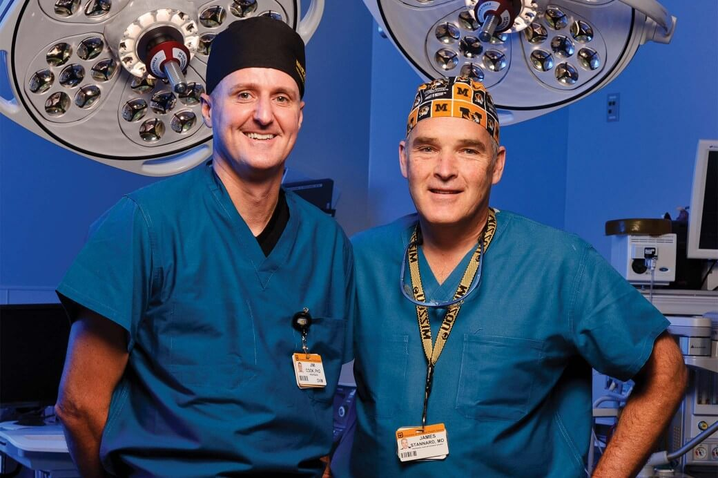 Photo of James Stannard, MD, and James Cook, DVM, PhD