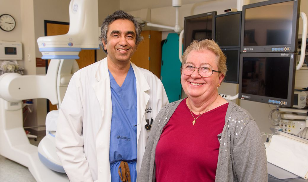 Sandeep Gautam, MD, and Mary Andersen