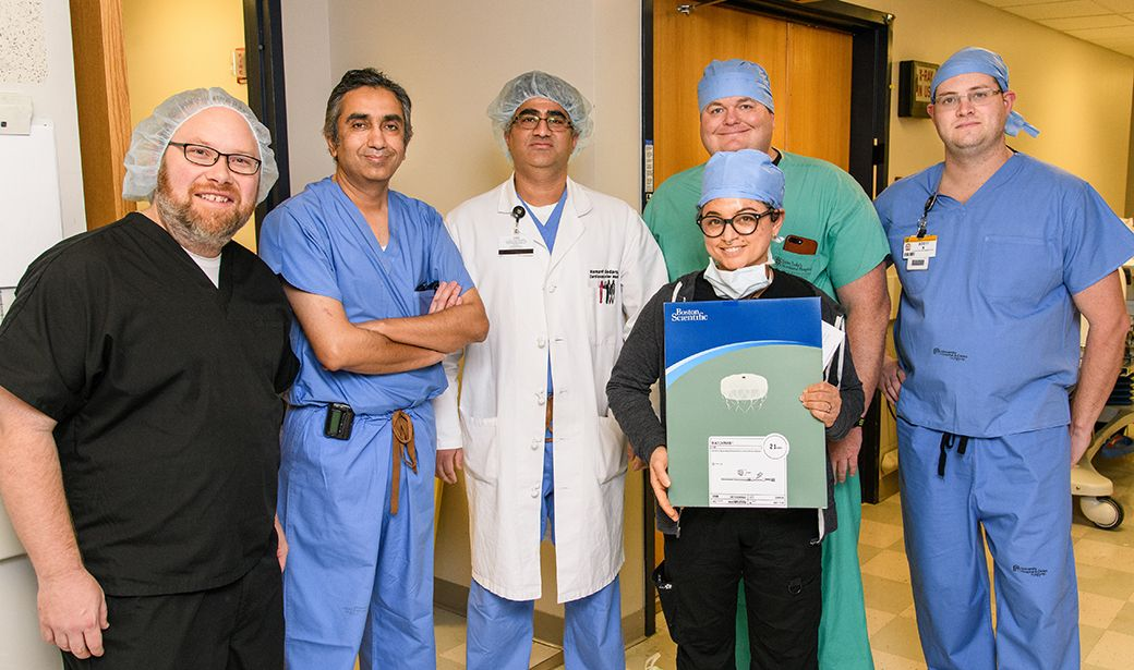 MU Health Care team performed its first left atrial apendage closure procedure.