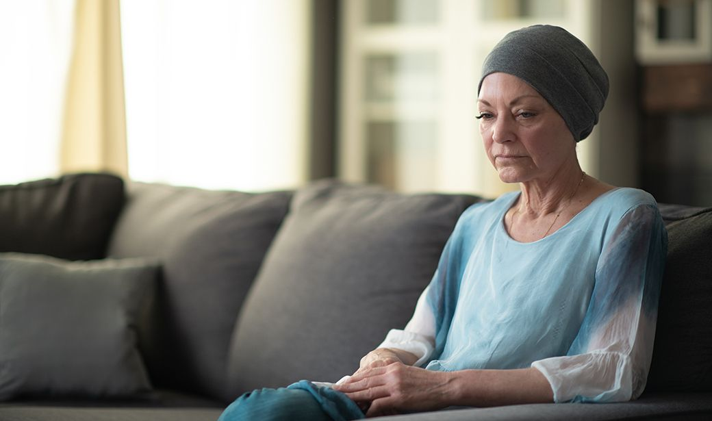 Woman coping with cancer