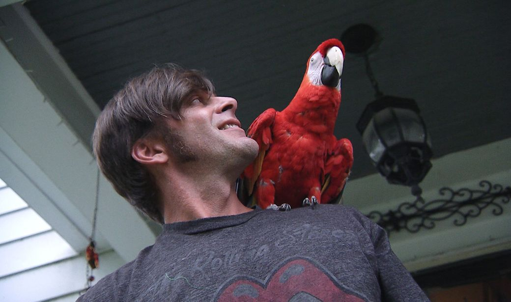 Paul with bird