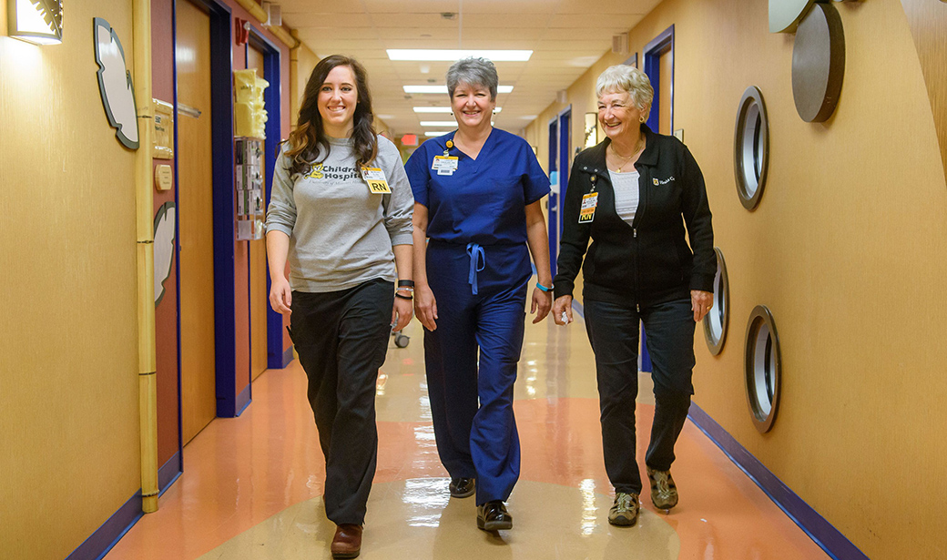Photo of three nurses at Women's and Children's Hospital.
