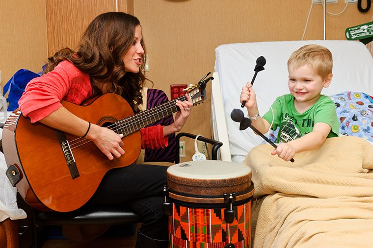 Emily Herzog, music therapist