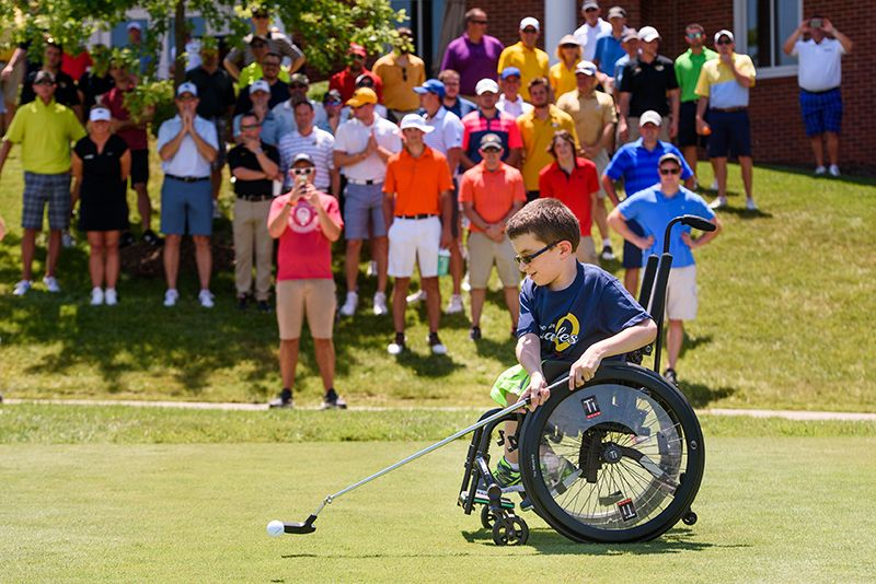 Connor hit the first shot at the 2016 MU Children's Hospital Celebrity Golf Classic at The Club at Old Hawthorne in June. He and his family have several opportunities to represent MU Children's Hospital.