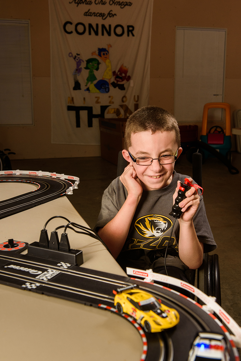 Connor Strope, born with osteogenesis imperfecta, or brittle bone disease, is representing MU Children's Hospital and Missouri as a Children's Miracle Network Hospitals Champion child for 2016-2017.