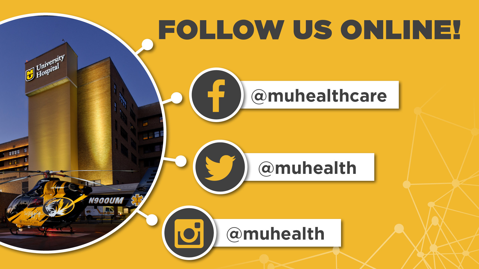MU Health Care social media sites