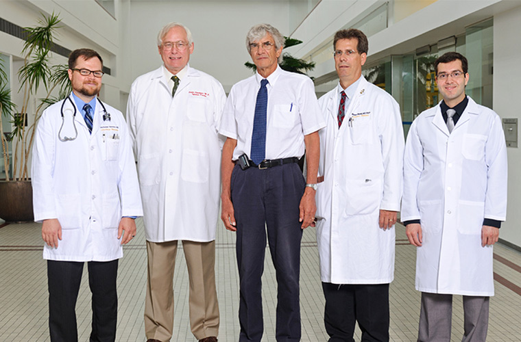 Photo of doctors who treat infectious diseases.
