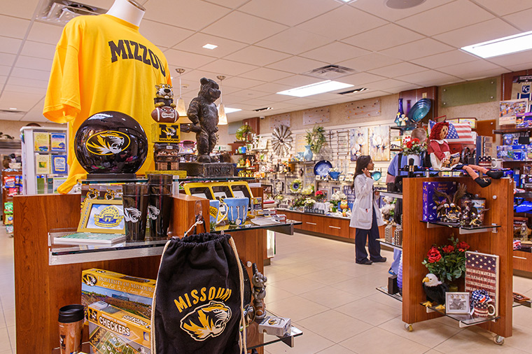 Photo of Medtique gift shop in University Hospital.