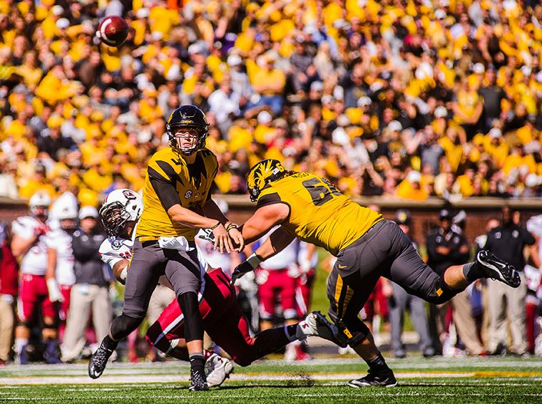 university of missouri football game vs. south carolina