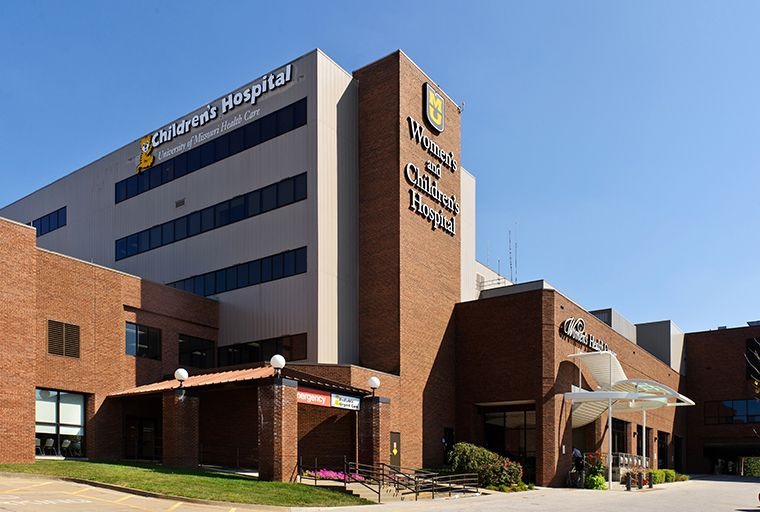 Photo of MU Women's and Children's Hospital.