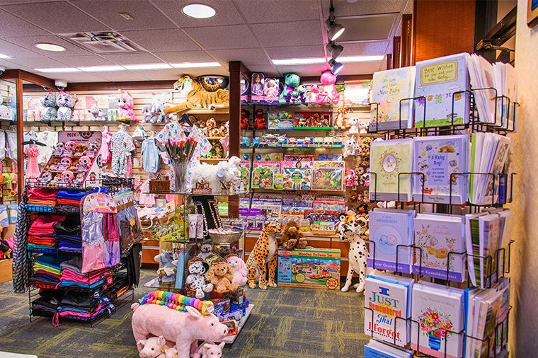 Photo of the Wishing Well gift shop at Women's and Children's Hospital.