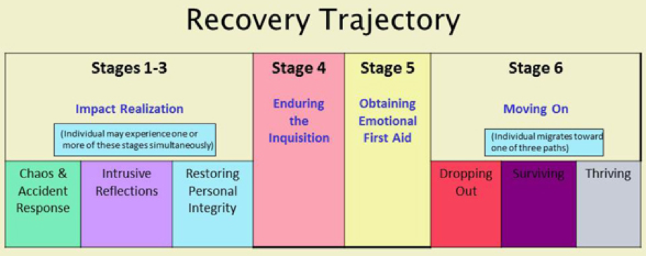 Photo of the recovery stages of second victims.