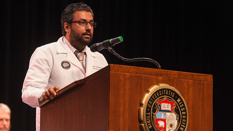 Dr. G at White Coat Ceremony