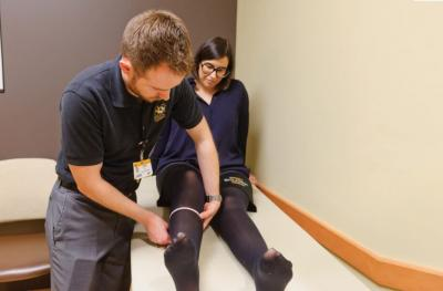 Photo of Kasia Bulik at the Mizzou BioJoint® Center.