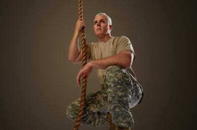 army man with rope