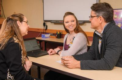 MU Health Care's Jennifer Jackson, Krystle Wattenbarger and Jeff Robbins hold education classes for newly diagnosed diabetics.