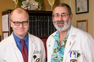 Dr. Patrick Belton, left, and Dr. N. Scott Litofsky