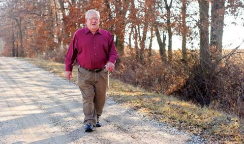 William Robert Lewis of Macon, Missouri, said he is pleased with the results of his ankle replacement. He underwent the procedure at the Missouri Orthopaedic Institute in October 2015.