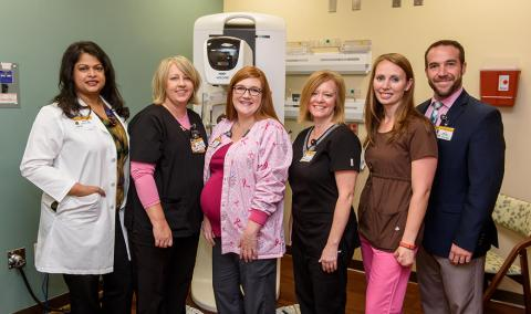 Staff in Women's Imaging Center