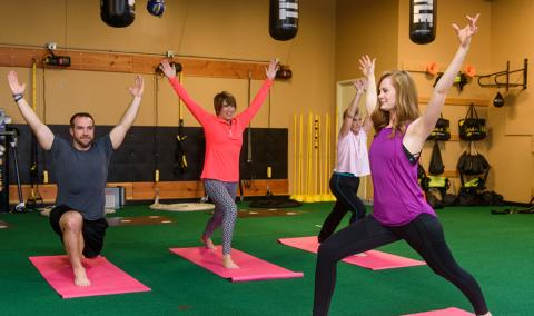 photo of yoga class