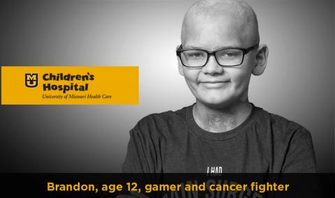 Brandon, gamer and cancer fighter