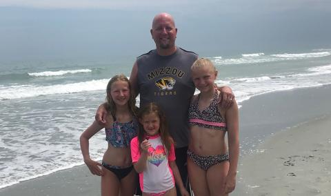 Matt Trachsel and his daughters