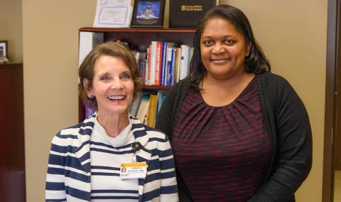 Carole Schutz, RN, and Laine Young-Walker, MD