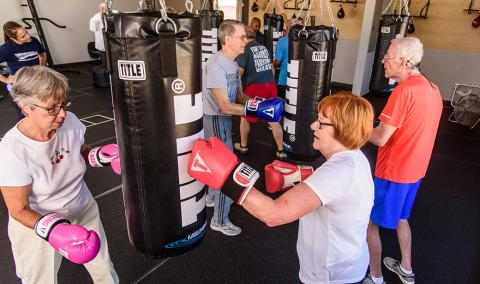 Rock Steady Boxing class