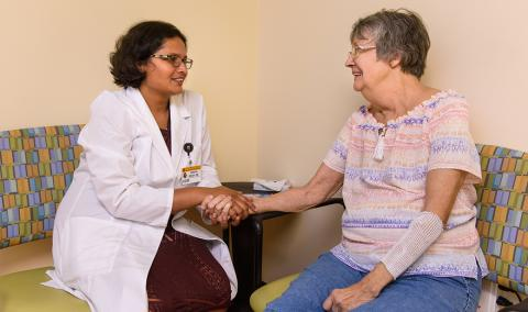 Sindhu Singh, MD, and Ruth Wright