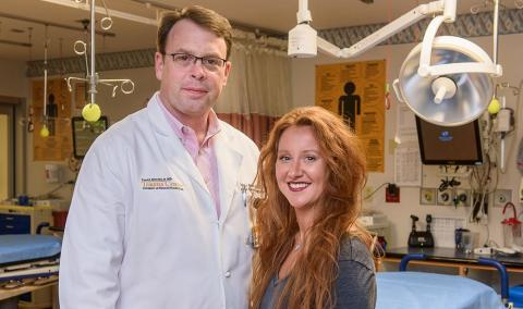 Dr. Barnes with Ashley Ames