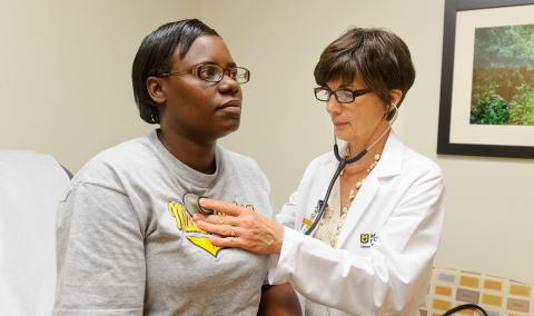 Brenda McSherry, FNP, is a provider at the Mizzou Quick Care clinics