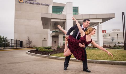 Nathan Skelley, MD, and dance partner Nikki Bell