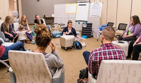 Group prenatal care class