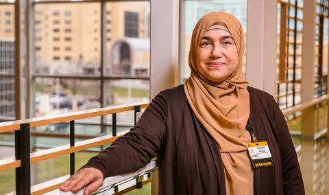 Bushra Faris, an MU Health Care interpreter