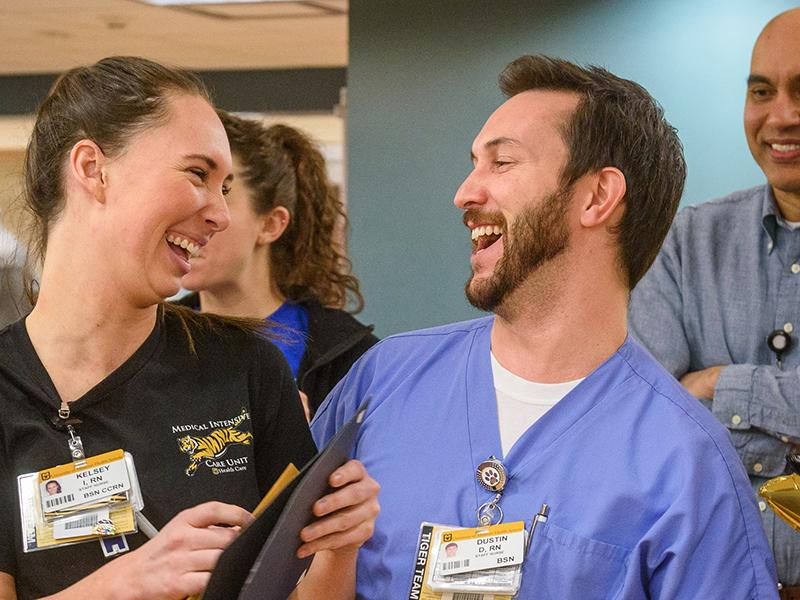 Photo of nurses laughing