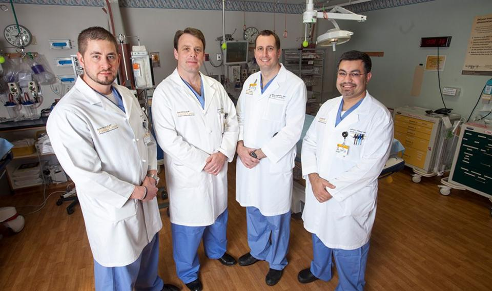 Team of four trauma surgeons from MU Health Care