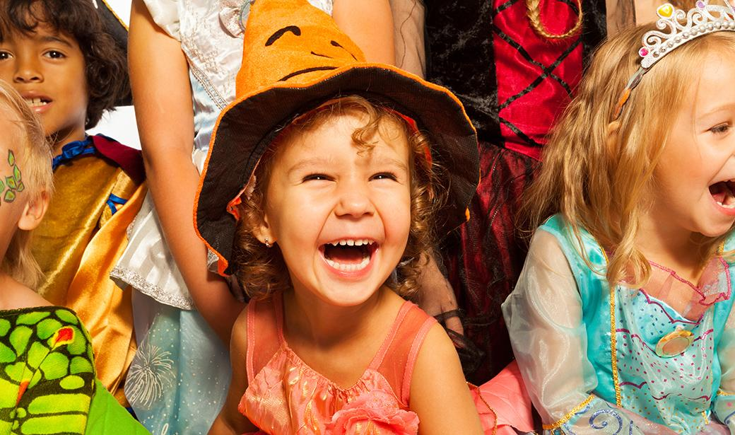 photo of young children on Halloween