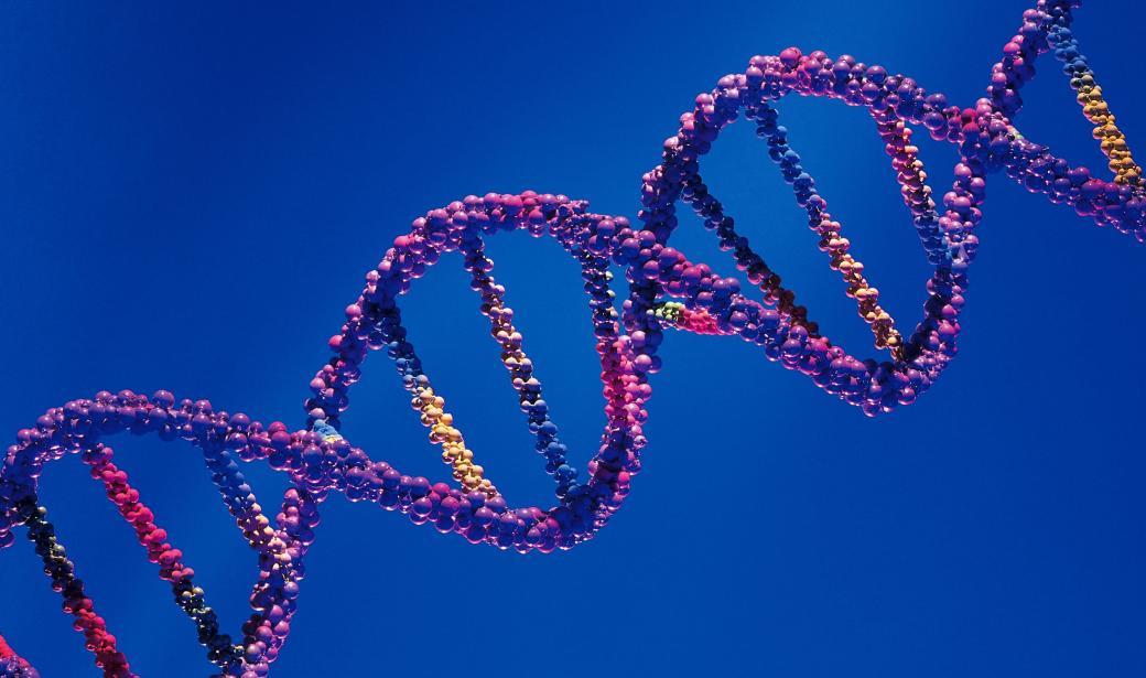 rendered strand of DNA