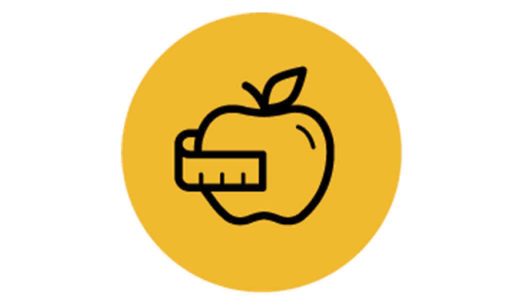 icon of apple and ruler