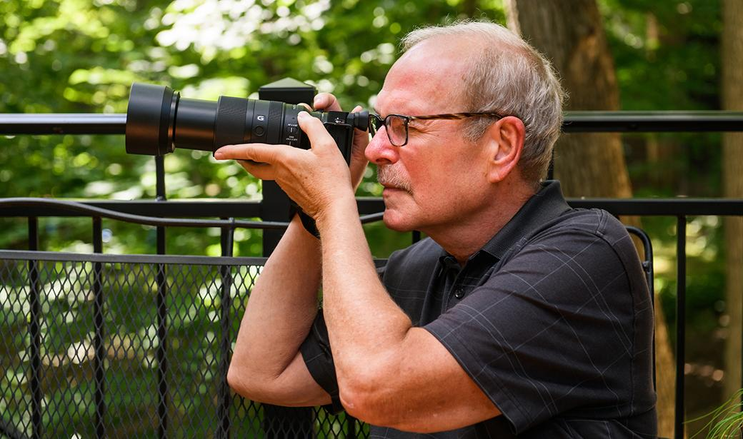 Bruce Horwitz with his camera