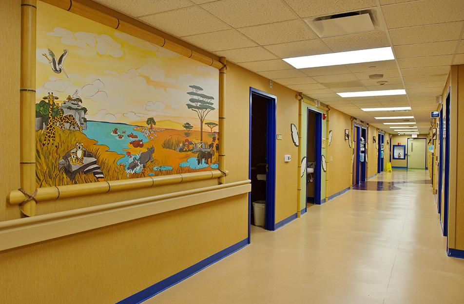 Photo of Children's Hospital floor