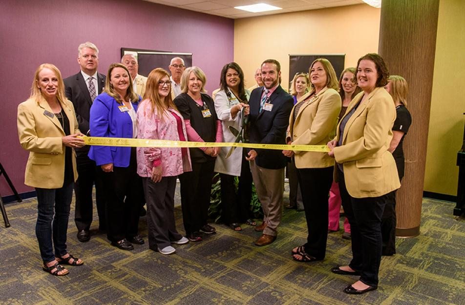 ribbon cutting of new imaging center