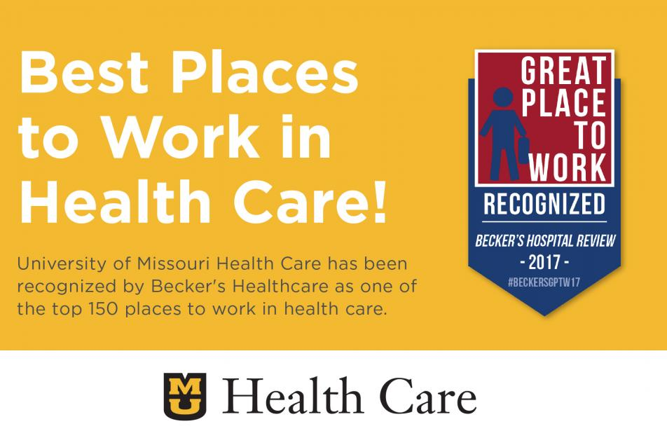 MU is the best place to work in health care