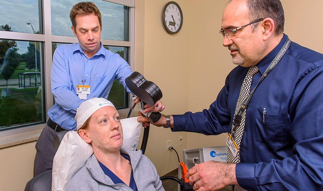 Photo of Transcranial magnetic stimulation (TMS)