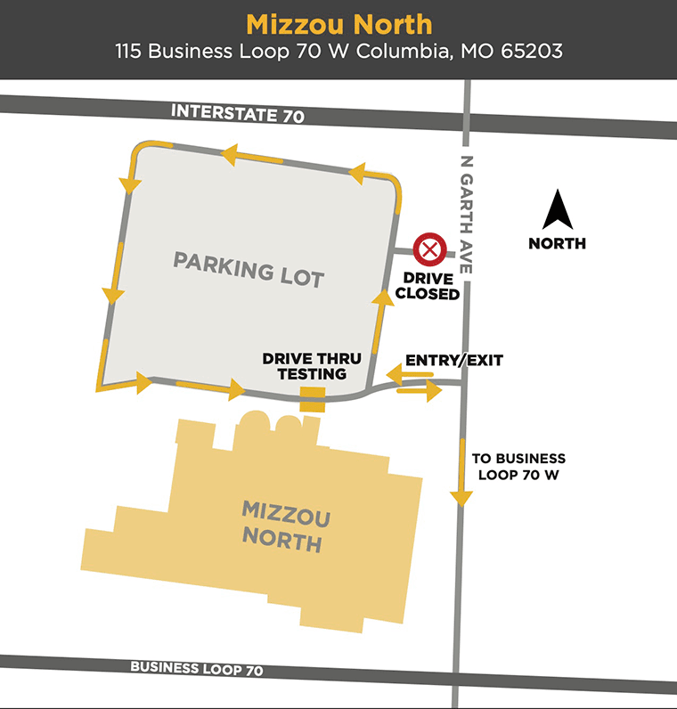 Photo map of Mizzou North