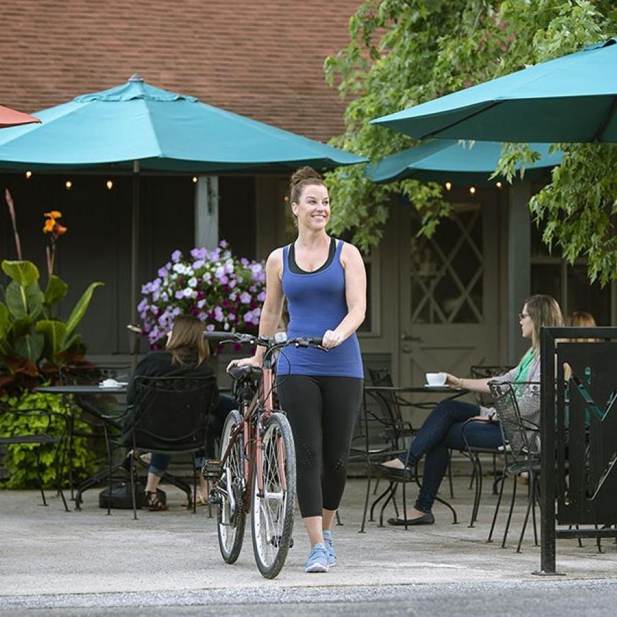 Lindsey with bike