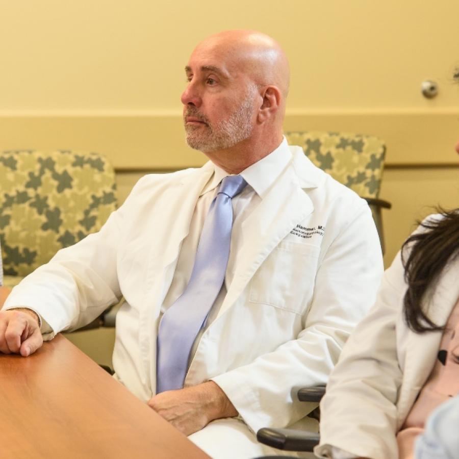 Dr. Hammer at tumor board