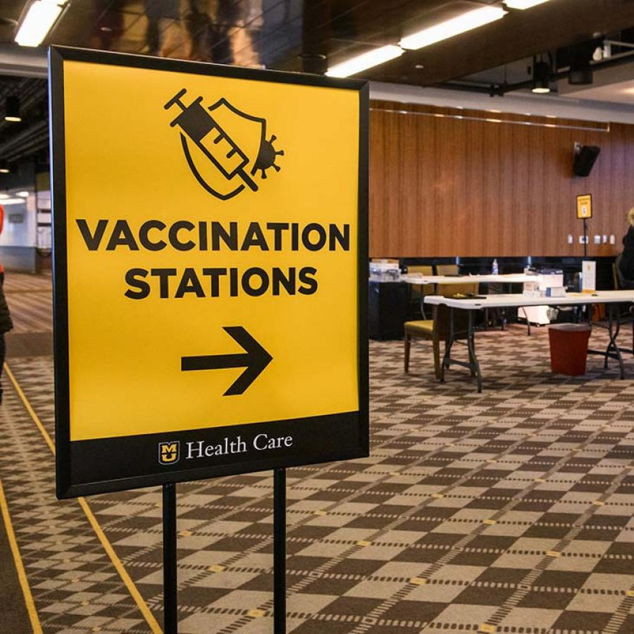 Photo of vaccination signage